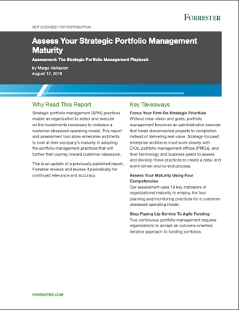 Forrester Report: Assess Your Strategic Portfolio Management Maturity