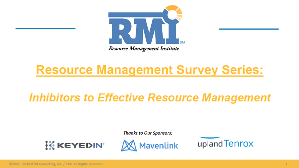 Resource Management Survey Results